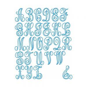 Diamond-Edged Vine Monogram Font by Big Dreams Embroidery