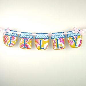 Jelly and Jam Jar Banner in the hoop project by Big Dreams Embroidery