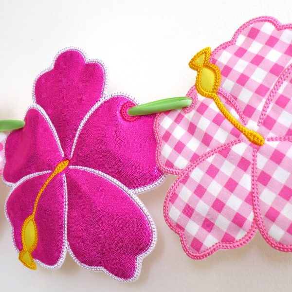 Hibiscus Flower Bunting ITH Project by Big Dreams Embroidery