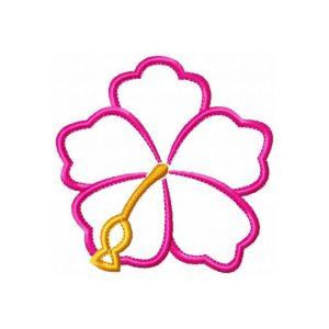 Hibiscus Flower v1 Hawaiian Applique by Big Dreams Embroidery
