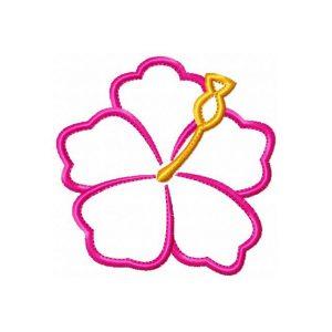 Hibiscus Flower v2 Hawaiian Applique by Big Dreams Embroidery