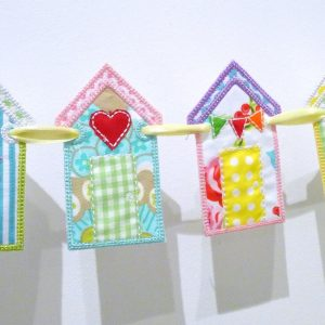 Beach Hut Banner ITH Project by Big Dreams Embroidery