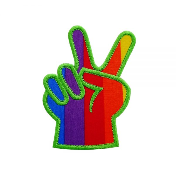 Victory Peace Sign machine applique design pattern by Big Dreams Embroidery