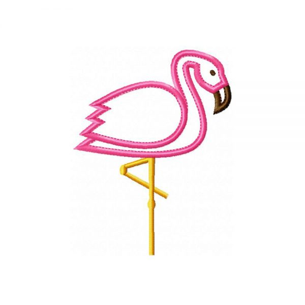 Flamingo applique design by Big Dreams Embroidery