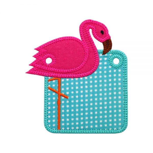 Flamingo Banner ITH Project by Big Dreams Embroidery