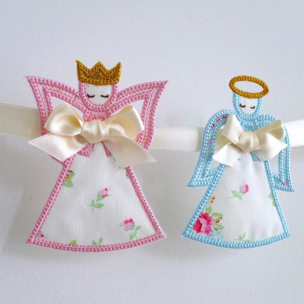 Christmas Angel and Fairy Queen Banner ITH Project by Big Dreams Embroidery