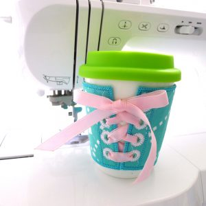 Coffee Cup Sleeve ITH Project by Big Dreams Embroidery