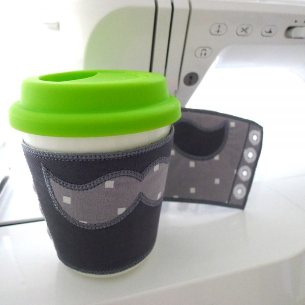 Coffee Cup Sleeve with Mustache ITH Project by Big Dreams Embroidery