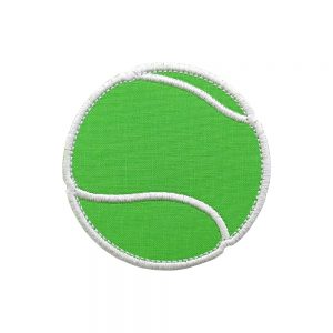 Tennis Ball machine embroidery applique design pattern by Big Dreams Embroidery