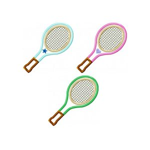 Tennis Racquet machine embroidery applique design pattern by Big Dreams Embroidery
