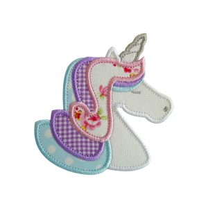 Unicorn machine embroidery applique design pattern by Big Dreams Embroidery