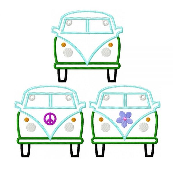 Hippie Van Bunting ITH Project by Big Dreams Embroidery