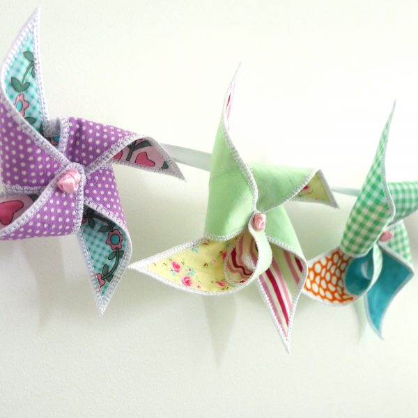 Pinwheel Bunting ITH Project by Big Dreams Embroidery