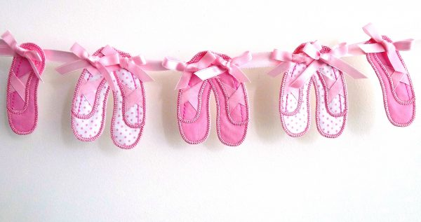 Ballet Shoe Bunting ITH Project by Big Dreams Embroidery