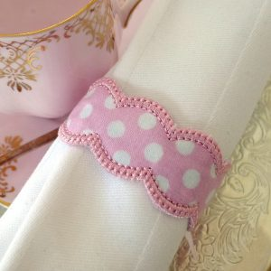 Napkin Ring Scalloped ITH Project by Big Dreams Embroidery