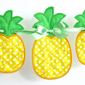 Pineapple Banner ITH Project by Big Dreams Embroidery