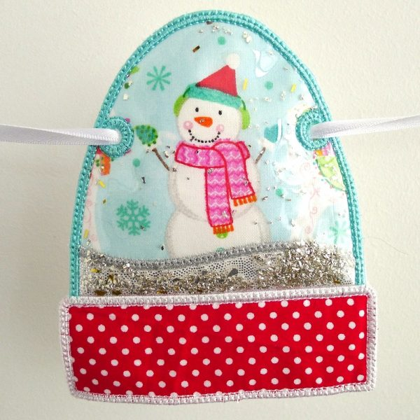 Snow Globe Banner ITH Project by Big Dreams Embroidery