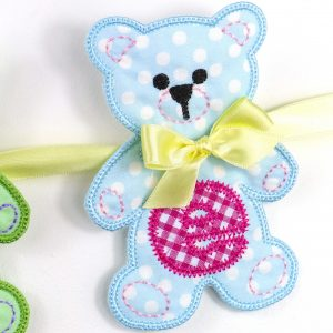 Teddy Bear Banner ITH project by Big Dreams Embroidery