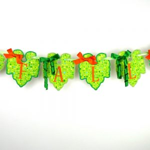Pumpkin Leaf Banner ITH Project by Big Dreams Embroidery