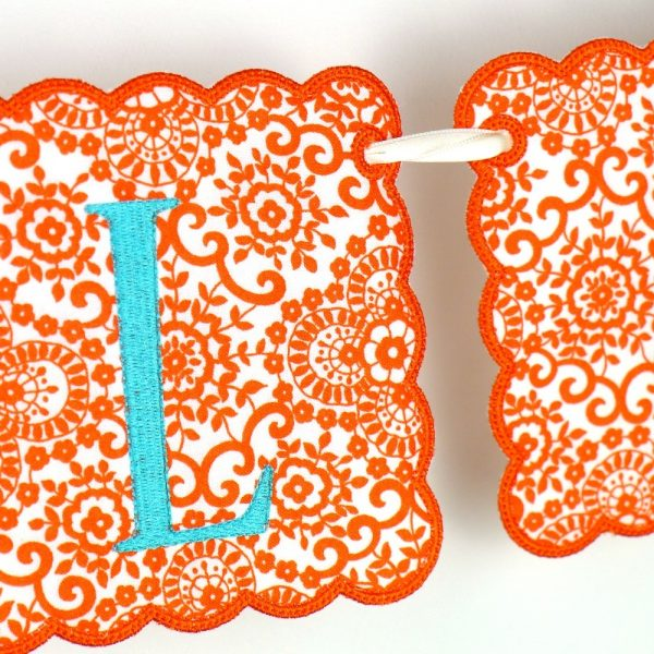 Scalloped Square Banner ITH Project by Big Dreams Embroidery