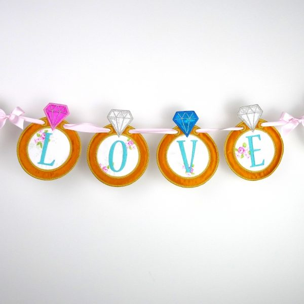 ITH Diamond Ring Banner by Big Dreams Embroidery