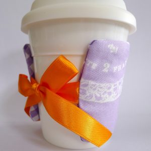 Coffee Cup Cozy with Ribbon ITH Project by Big Dreams Embroidery