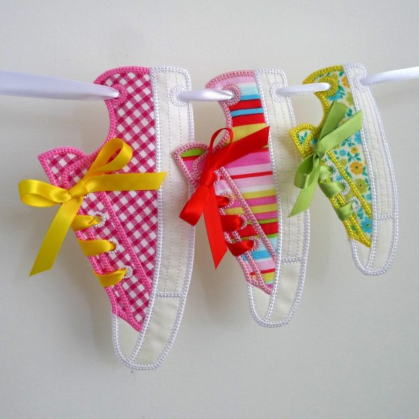 Sneaker Bunting ITH Project by Big Dreams Embroidery